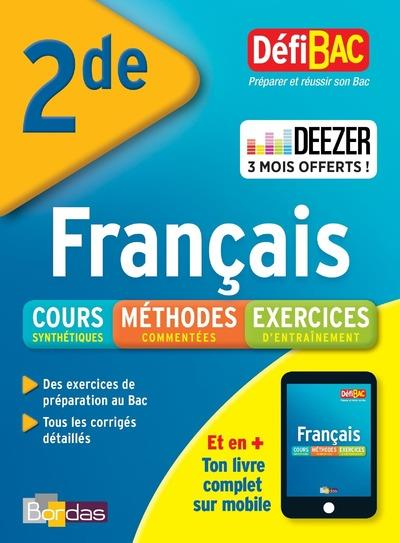 DEFIBAC COURS METHODES EXERCICES FRANCAIS 2DE COLLECTIF BORDAS